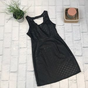 Dresses & Skirts - perforated faux leather dress